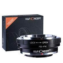 K & F Concept adaptador para lente de montura de Canon FD a Fujifilm X Pro2,X A2,X E1.X T1 X T2 X T20 GFX