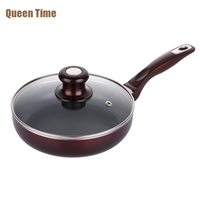 QueenTime 18cm 7 Inch Small Frying Pan Skillet Fried Eggs Steak Pot Non Stick Non Fog