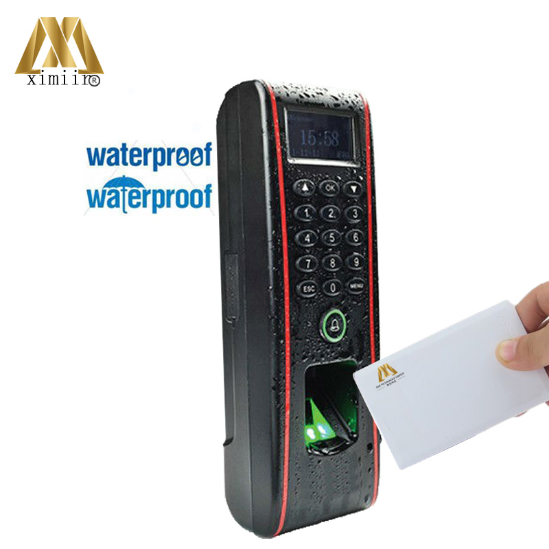 Waterproof Biometric Fingerprint Access Control System ZK TF1700 IP65 With 13.56MHZ MF IC Card Access Controller