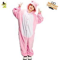 QLQ Winter Kids Pig Pajamas Costume Performance Carnival Party Comfortable Sleepwear Funny Pig Pajams Jumpsuit for Girls