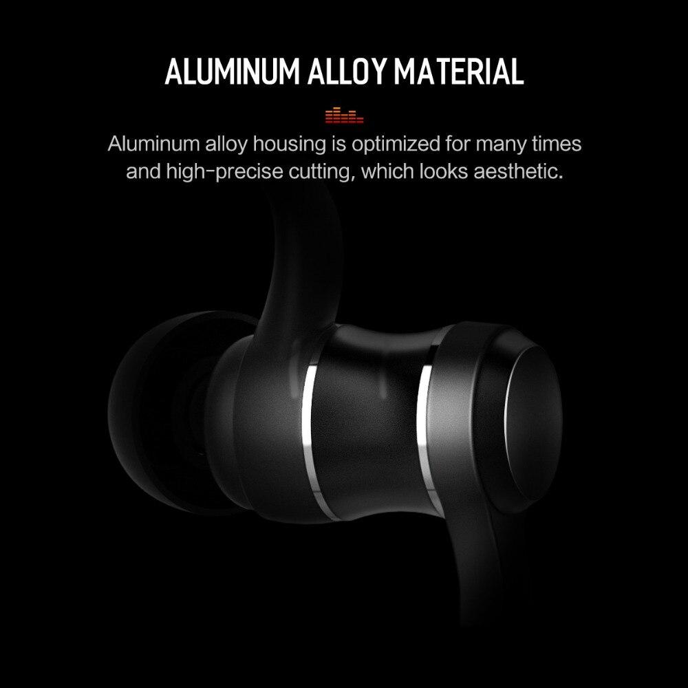 ROCK Bluetooth Earphones In-Ear Magnetic Neckband Headphone Sweat Waterproof For Running Budget Wireless Sleep Headsets 3
