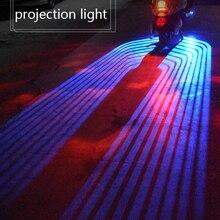 2 шт. проводной Авто Дверь Добро пожаловать свет светодиодный Автомобиль Мотоцикл Крыло ангела проектор свет лампы синий