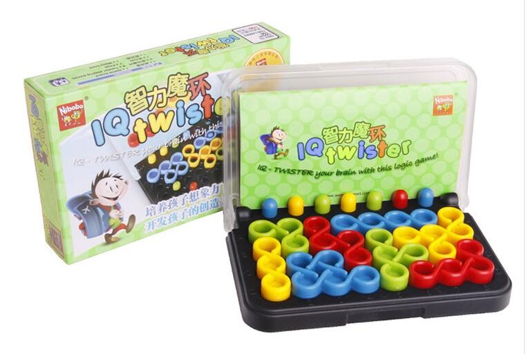 Ny IQ Logic Puzzle Mind Brain teaser Opplæringspuslespill for barn Kids Adults