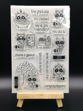 Science lab Transparent Clear Silicone Stamps for DIY Scrapbooking Card Making Kids Christmas Fun Decoration