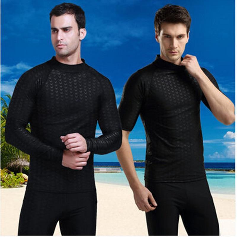 Sbart new shark skin diving suit, snorkeling, surfing, men's swimsuit, sunscreen, jellyfish sbart upf50 rashguard 2 bodyboard 1006