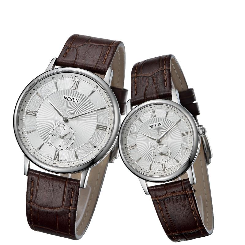 Nesun Switzerland Luxury Brand Watch Women Japan MIYOTA Quartz Movement Men's Watches Genuine Leather Couple's Clock N8501-LL1