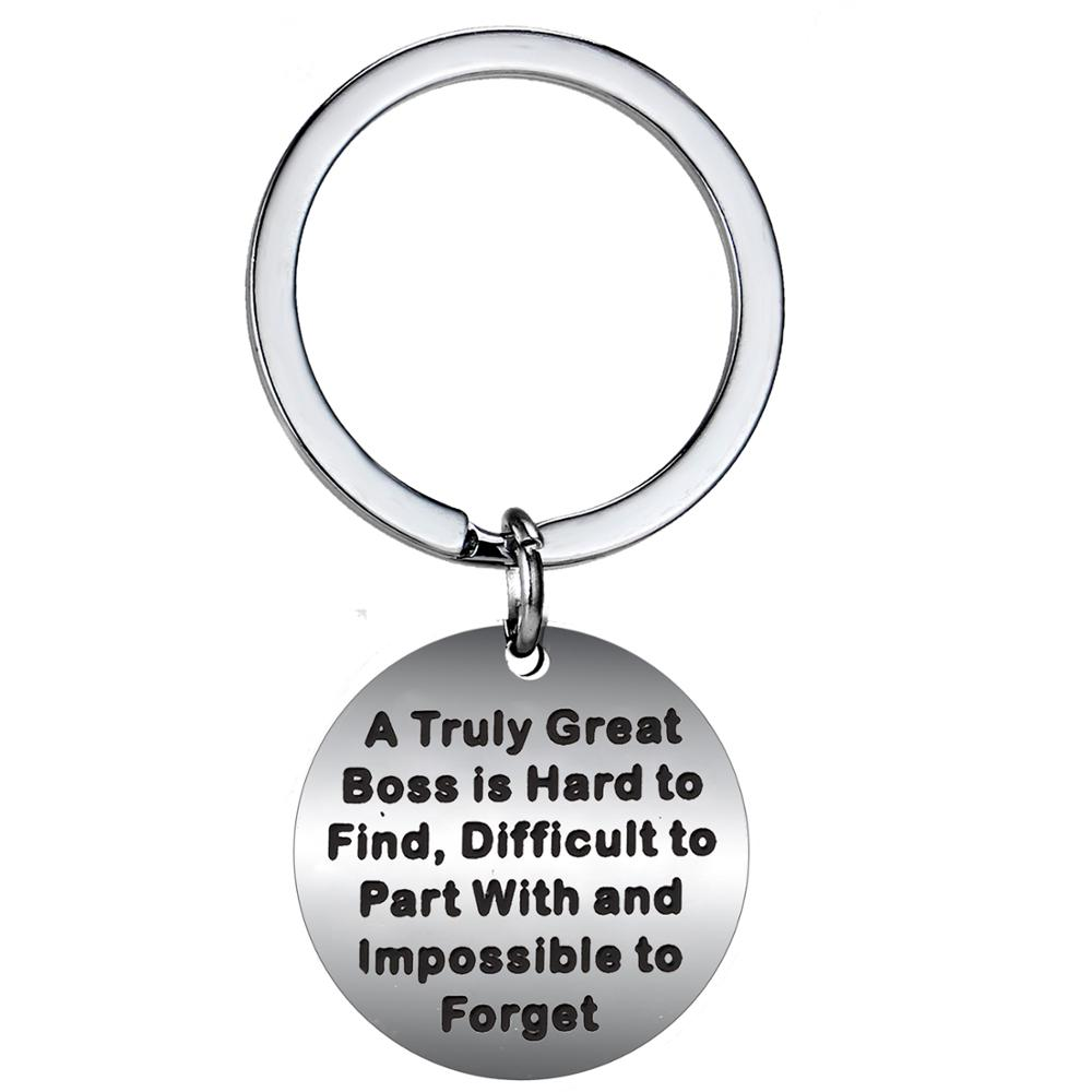 Family Personalized Gift Coworker Custom Keychain Boss Engraved Metal Keychain Employee Partner Customized Key Chain Gift for Friend
