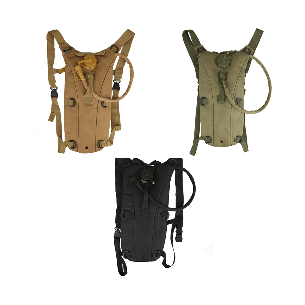 2.5L/3L Tactical Outdoor Hydration Water Backpack Bag with Bladder 6 Colors SS l