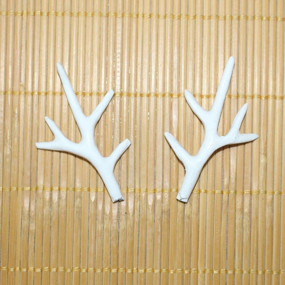 Handmade White Simulation Plastic Deer Antlers DIY Cosplay Animals ...