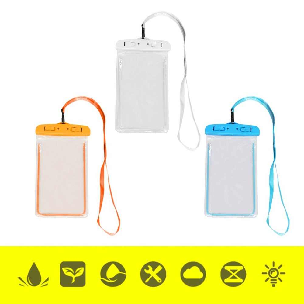 Kolam Tahan Air Tas dengan Luminous Underwater Pouch Phone Case untuk iPhone 6 6S 7 8 Universal Semua Model 3.5 Inch-6 inci