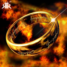 RIR brand 3 Color Stainless Steel lovers rings Plated Lord of the ring Band Wedding Engagement Cocktail Husband Father Gifts