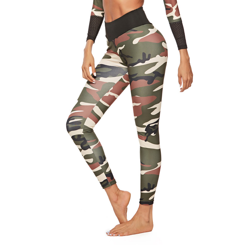 4 Colors Push Up Camouflage Print Leggings Women Polyester High Waist Jeggings Comfortable Fitness Pants Workout Girls Leggings 1