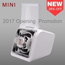 Jebely nova chegada branco mini única dobadoura relógio para relógios automáticos caixa de relógio automático dobadoura exibição de armazenamento caso caixa