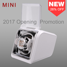 Jebely وصول جديد أبيض صغير ملفاف ساعة واحدة للساعات التلقائية صندوق ساعة أتوماتيكية لفاف تخزين صندوق عرض