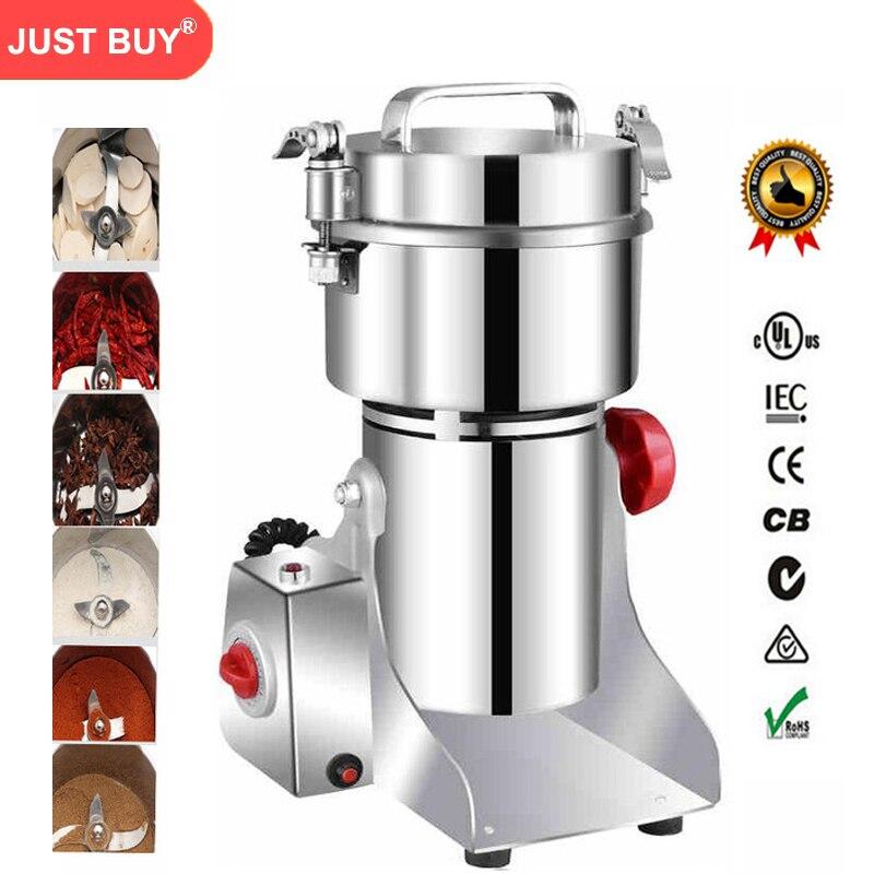 700g Grains Épices Hebals Céréales Café Sec Alimentaire Moulin Broyeur Machine gristmill maison médecine flour poudre concasseur