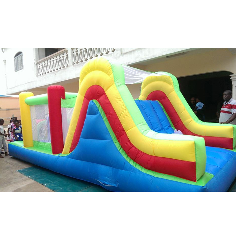 Inflatable Water Slide With Price: YARD Top Inflatable Bouncer Combo Slide Obstacle Course