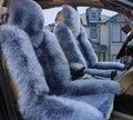 Invierno cálido Natural pura lana asiento de coche de la felpa cubre custom fit para AUDI A1 A3 A4 A5 A6 A6L A8L A7 A8 Q3 Q5 Q7 S5 TT
