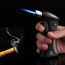 New Torch Turbo Cigar Lighter Spray Gun Jet Butane Pipe Lighter Cigarette 1300 C Fire Windproof Lighter No Gas Child safety lock cigar spray lighter windproof and blue fire pipe lighter cigar cigarette lighter men s business gift