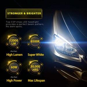 Image 2 - مصباح أمامي مصغر فائق السطوع للسيارة H7 H4 H11 led H1 لمبة HB3 9005 HB4 9006 H3 H8 60 واط 12000lm مصباح أمامي للسيارة 6500K
