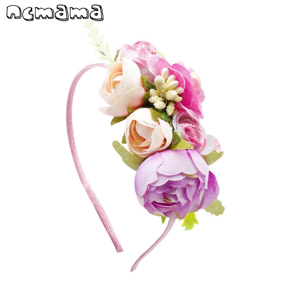 SchöN Süße Farben Blumen Haarband Für Mädchen Nette Silk Floral Haar Bands Kinder Haar Bogen Stirnband Haar Zubehör Für Frauen Haar-accessoires