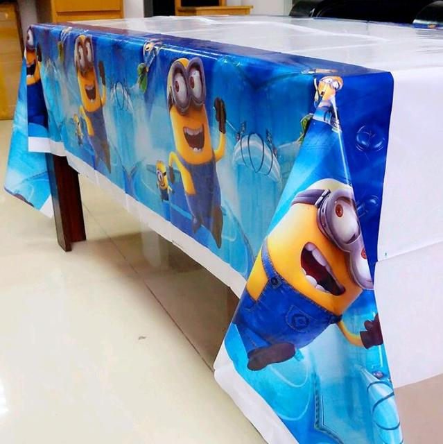 cartoon despicable Me theme PE Table Cloth for kids happy birthday