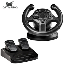 лучшая цена DATA FROG Racing Steering Wheel For PS3 Game Steering Wheel PC Vibration Joysticks Remote Controller Wheels Drive For PC