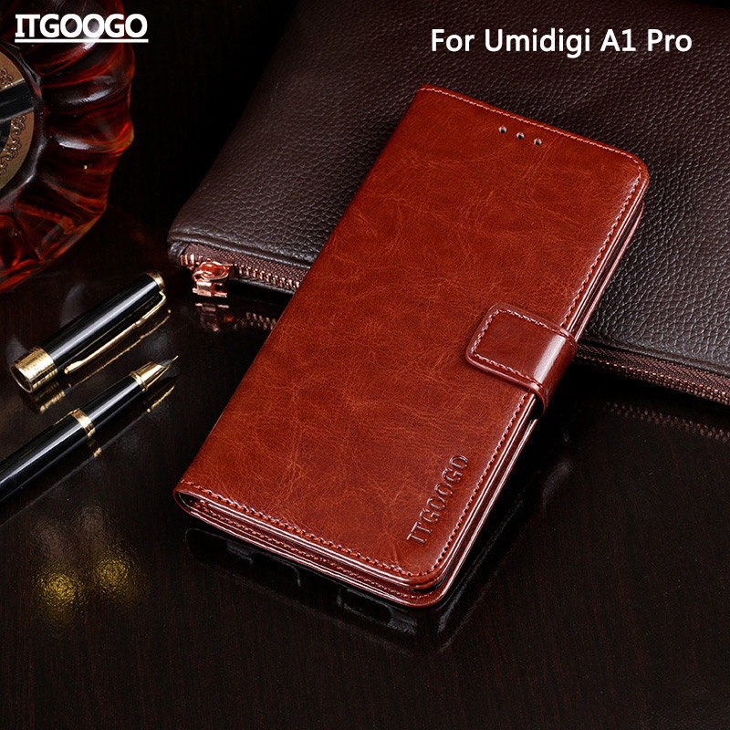 Fall Für Umidigi A1 Pro Fall Abdeckung Hohe Qualität Flip Leder Fall Für Umidigi A1 Pro Abdeckung Capa Telefon tasche brieftasche Fall