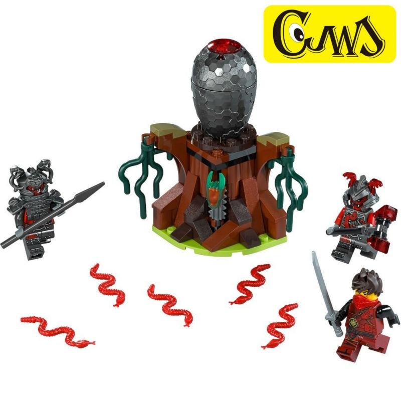 Lepin 06047 NinjagoINGlys Series The Vermillion Attack Set Block Mini Ninja Kai Rivett Slackjaw Figures Toys Compatible 70621
