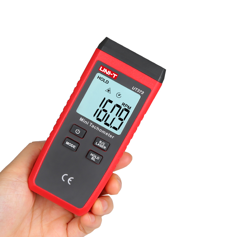 UT373 Mini Non-contact Tachometer Singal Trigger / Laser-on Indication RPM  Speed Measurement Meter Up to 99999 Ddisplay