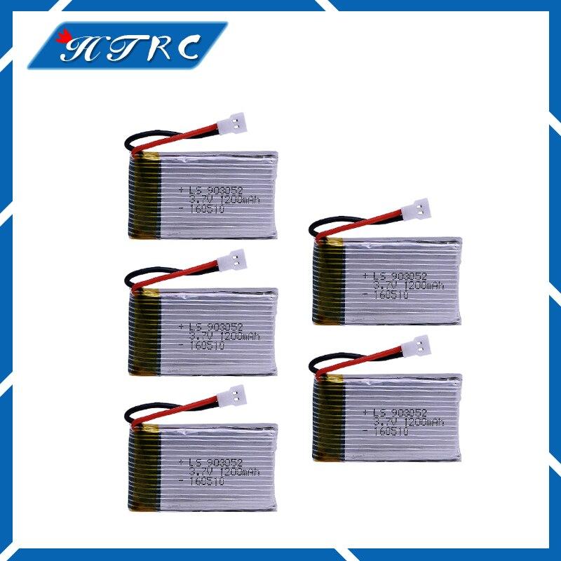 5PCS 3.7V 1200mAh Lipo Battery Syma X5SW X5SC X5S X5SC-1 M18 H5P RC Quadcopter 3.7 V 1200 mAh 25C battery for SYMA X5SW X5SC