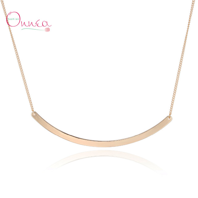 Onnea gold tone collar circle bar necklace choker bar pendant onnea gold tone collar circle bar necklace choker bar pendant necklace fashion stainless steel necklace mozeypictures Images