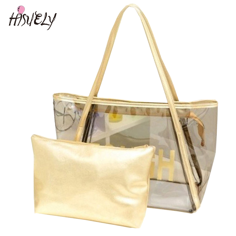 2018 New Fashion FREE SHIPPING New Womens Sweet Jelly Clear transparent Handbag Tote Shoulder Bags Hot S