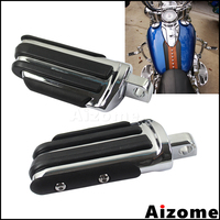 Motorcycle Chrome Rubber Highway Foot Pegs Footpegs Engine Guard Male Mount Footrests For Harley Davidson Dyna Sportster Touring