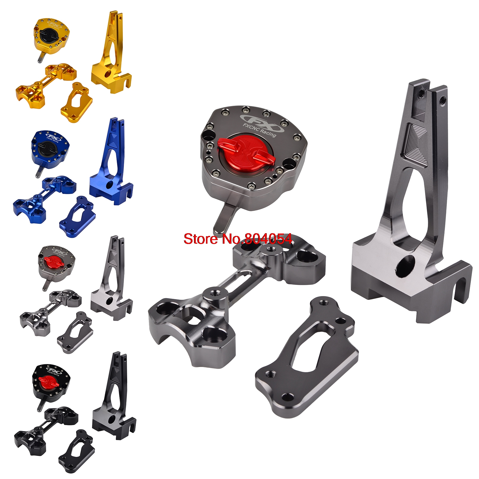 Motorcycle Steering Damper Stabilizer Mount Bracket Kits For Yamaha MT09 MT-09 Street Rally  FZ09 FZ-09 2014 2015 2016 motorcycle steering damper stabilizer with mounting bracket kit for yamaha mt09 mt 09 fz09 fz 09 2014 2015 2016