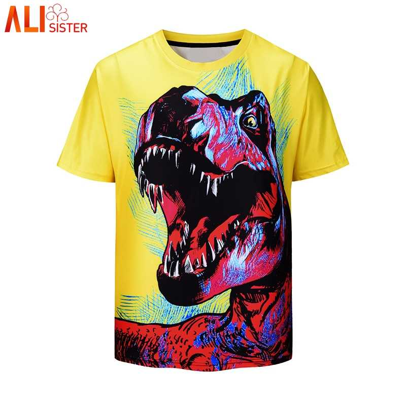 Alisister Мужская футболка с 3d принтом 2019 Летние повседневные футболки унисекс уличные футболки Camisa Masculina мужские большие размеры