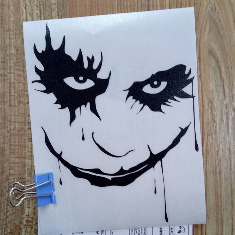 Joker Vinyl Car Sticker Decal Jdm Car Stickers Window Wall Bumper Laptop Car Styling Car Accessories Moto Sticker Free Shipping in Car Stickers from Automobiles Motorcycles