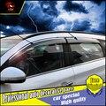 4 Pçs/set estilo do carro Proteção Contra Chuva Escudo Viseira do windows Capa Para Hyundai Tucson Para 2015 2016 Acrílico Da Janela Chuva Viseira