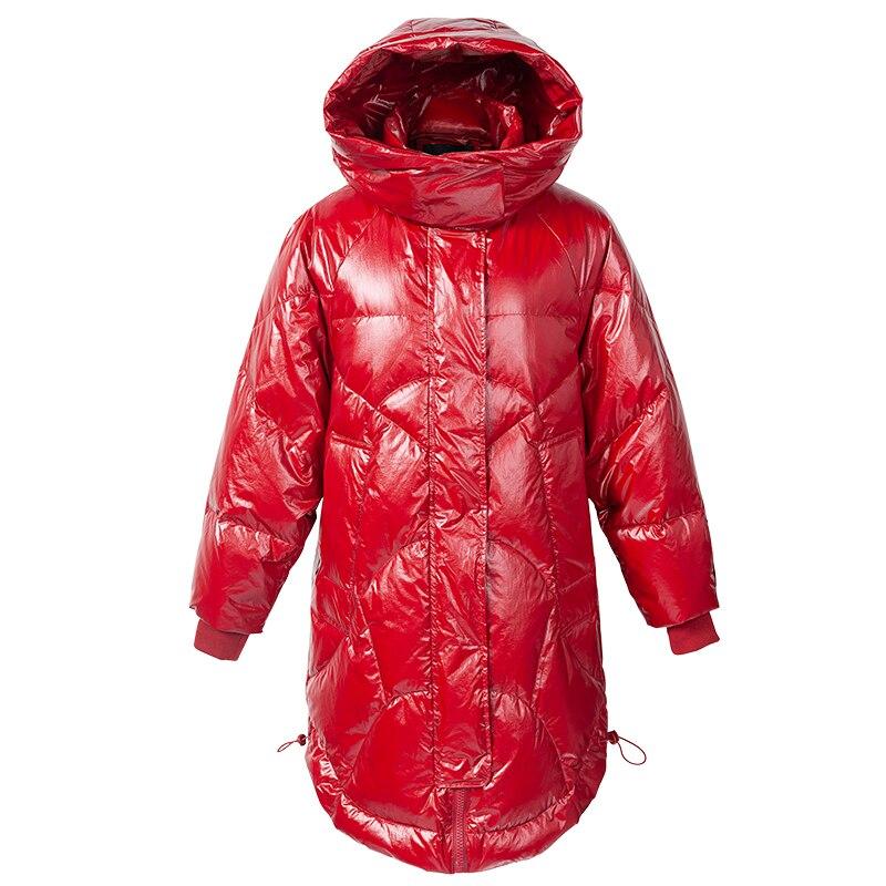 Manteaux Vers red Femelle Lwl1347 Brillant Chaud Black Le Vêtements Bas Capuchon À 90 Femme Blanc Parka Tcyeek Duvet Femmes Vestes Doudoune De Canard 5RqBxzI