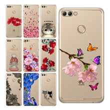 Soft Phone Cases For Huawei Y9 2018 Silicone TPU Cute Painted Back Cover Y 9 cover full Protective