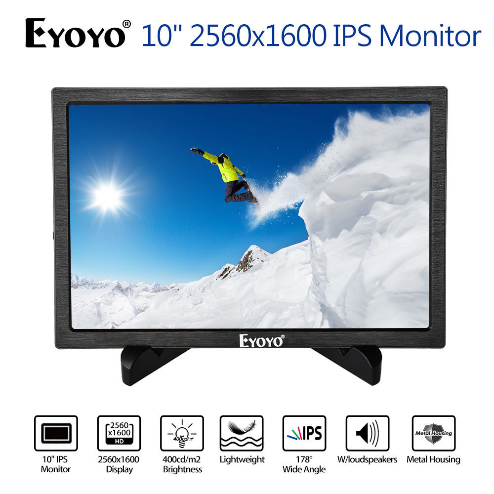 EYOYO 10 IPS Gaming Monitor Dual HD Input 8BIT 1080P Built-in Speakers 178degree USB For PC DVD PS2 PS3 PS4 Xbox One Xbox360