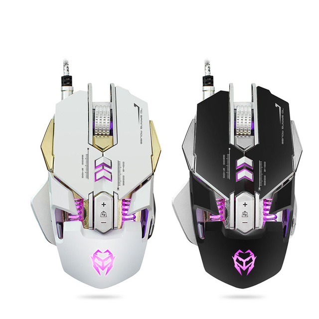 Professional Wired Gaming Mouse 7D Button 3200 DPI LED Optical USB Gamer Computer Mouse Mice Cable Mouse For PC High Quality