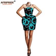Женское платье бутон в африканском стиле без рукавов длиной