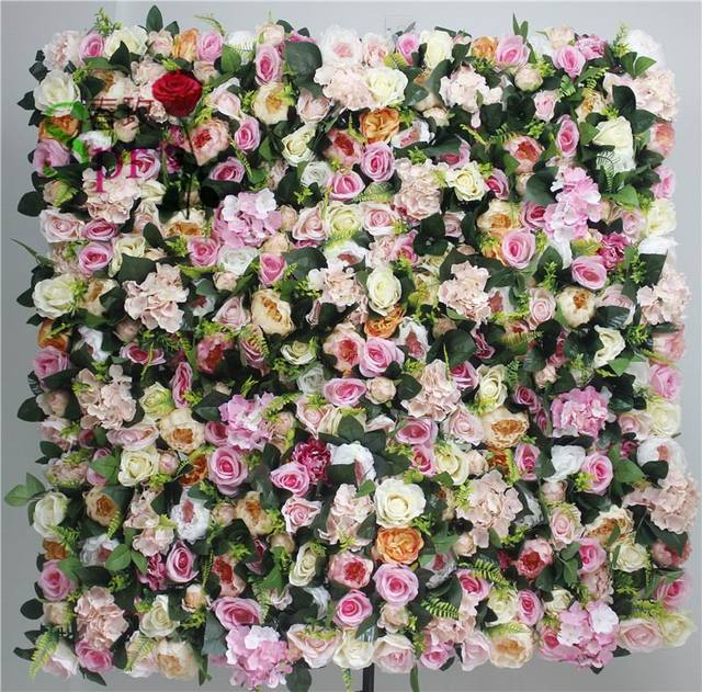 SPR High quality 10pcs/lot wedding flower wall  stage backdrop decorative factory wholsale artificial flower wedding arrangement