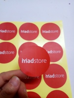 75mm Custom Label Handmade Transparent Clear Vinyl PVC Thank You Stickers Wedding Logo Brand Seal Sticker Adhesive Labels