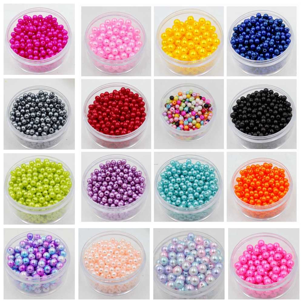 Free Shipping Wholesale Pick Size 4mm 5mm 6mm 8mm 10mm ABS Imitation Pearl Beads Many Colors For You Fit DIY Bracelet Making