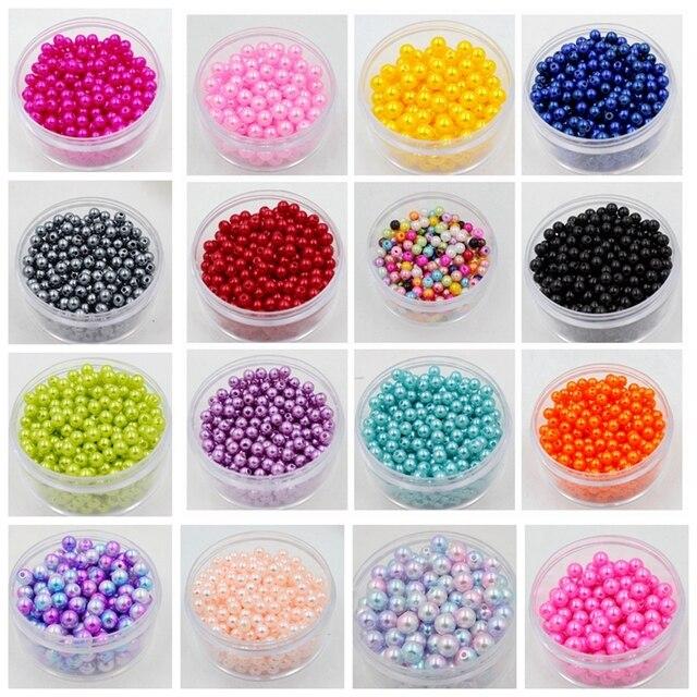 Бесплатная доставка Оптовая продажа выбрать размер 4 мм 5 мм 6 мм 8 мм 10 мм ABS имитация жемчуга бусины много цветов для вас подходит DIY браслет Изготовление