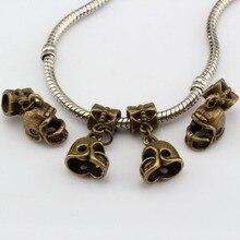 Hot  ! 15 pcs Antique Bronze 3D Small Football Helmet Charms Dangle Bead Fit Charm Bracelet DIY Jewelry 12 x24mm nm338