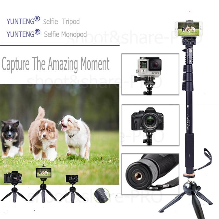 YUNTENG Monopod Öz Bluetooth Uzaktan Kablosuz Tripod Tutucu Kamera - Kamera ve Fotoğraf - Fotoğraf 2