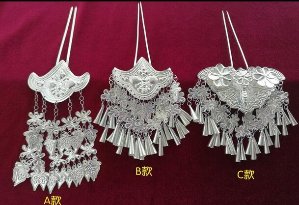 Palace steps Shakugana crew costume Hanfu bridal stage headdress Long Su Miao silver hairpin