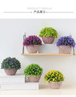 Creative simulation plant potted home table coffee table artificial flower decoration wedding decoration bonsa